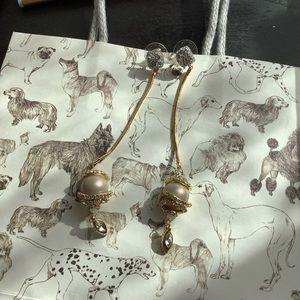 NWOT Alexis Bittar pearl earrings